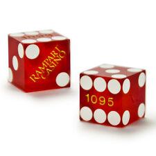 (2) 19mm RAMPART CASINO official casino-used precision dice - poker, craps