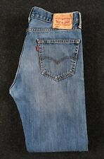 Homme LEVI'S 505 Jeans Coupe Droite Taille W34 L34 Strauss Bleu