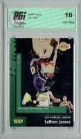 Lebron James 2019 Panini Instant #106 Green SSP Only 10 Made Card PGI 10