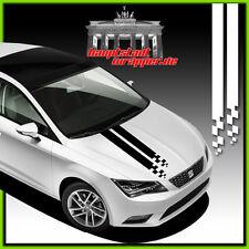 Opel Fiat Seat VW BMW Audi Renault Ford Volvo Rennstreifen Motorhaube Aufkleber