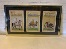 Antique Set of 3 Indian Mughal Composite Animals Paintings on Manuscript Leaves