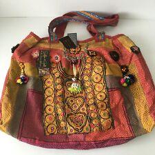 Womens Large Indian Artisan BoHo Retro Vintage Bag Free Postage