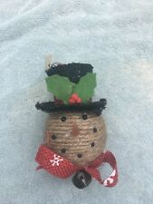 """Christmas 4"""" X 3"""" Decorated Snowman Ornament"""