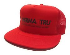 Vintage 80s Therma Tru Doors Lowes Red Trucker Hat Snapback Never Worn