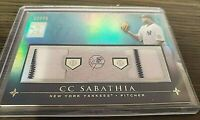 2010 Topps Tribute Gold Parallel #27/75 TDR-CS CC Sabathia Dual Jersey Card