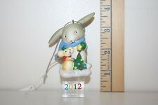 Carlton Cards Ornament - Ice Pals - Rabbit and Mouse with Christmas Tree - 2012