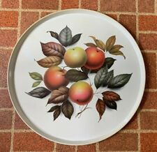 "Vintage 15"" Elite Tray ""Apples"" Metal Circular Tray Made in Great Britain"