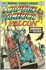 Captain America # 183 March 1975 Marvel Death of new Cap Nomad becomes Cap