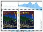 2x CANADA 1996 CANADIAN BRITISH COLUMBIA FV FACE 90 CENT MNH SE-TENANT STAMP LOT
