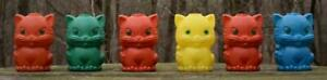 Vintage MCM Halloween Cat Blow Mold Patio Light Shades Covers Set of 6