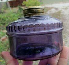 Nice Purple Colored Glass Lamp Bowl Hand Blown 1890'S Era Clean Decorative L@K
