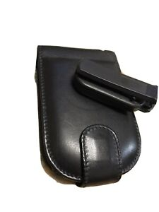 Piel Frama Leather case for HP iPaq PDA NEW  Black with back clip