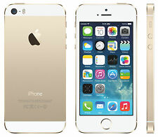 APPLE IPHONE 5S 32GB ORO GOLD ORIGINALE SIM FREE iOS 9 + GRADO A CON GARANZIA