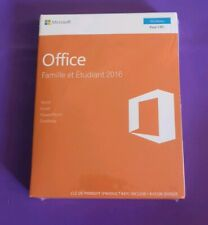 MICROSOFT OFFICE HOME AND STUDENT 2016 NEW SEALED FRENCH PRODUCT KEY CARD