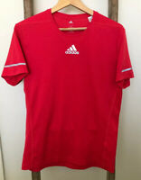 Adidas Sequencials Climalite Mens Short Sleeve Running Tee Red Size S