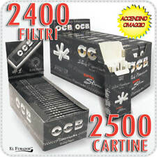 2400 Filtri OCB ULTRA SLIM 5,7mm EXTRA + 2500 Cartine OCB NERE PREMIUM CORTE 100