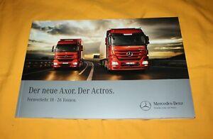 Mercedes Axor Actros 18-28 T LKW 2010 Prospekt Truck Brochure Camion Catalog