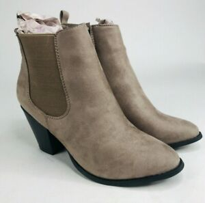 Sociology Chelsea Ankle Booties Womens Size US 9 Mushroom Gray