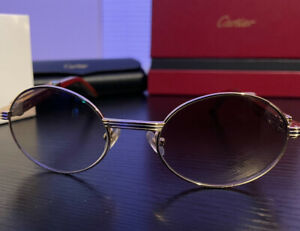 Cartier Giverny Vintage Gold Metal Finish, Solid Glasses Frames. 53 Lens