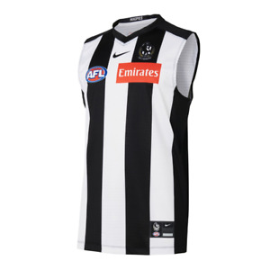 NEW Official 2021 Collingwood Magpies Mens Nike Home Guernsey
