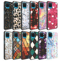 For Samsung Galaxy A12 5G Case, Glitter Pattern Cover+Tempered Screen Protector
