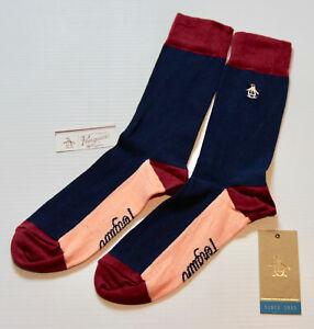ORIGINAL PENGUIN Mens Navy Pink  Socks > One Size UK 7-11 EU 41-46