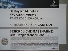 TICKET UEFA CL 2013/14 Bayern München - CSKA Moskva Gastfan