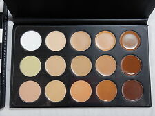 15 Full Coverage Highly Pigmented Cream Based Professional Concealer Palette RC