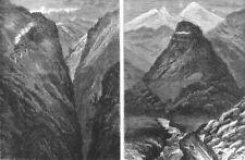 NEW MEXICO.Denver Rio Grande railway.Toltec Gorge San Juan Mtns;Veta pass, 1881
