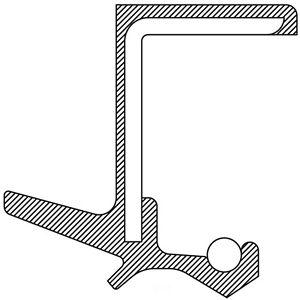Transfer Case Output Shaft Seal fits 2003-2019 Infiniti FX35 FX45 Q70  NATIONAL