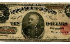 "$10 (FR-371) ""TREASURY NOTE"" 1891 $10 (FR-371) ""PHILLIP SHERIDAN"" STAR !!! NICE!"