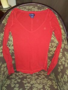 Women's American Eagla Red Long Top XS/TP Good Condition