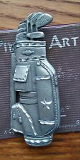 LADY'S GOLF BAG BROOCH PIN DETAILED PEWTER BY SPOONTIQUES NWT