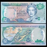 Bermuda 2 Dollars, 2000, P-50a, UNC