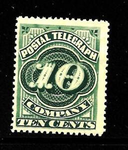 HICK GIRL-OLD MINT U.S. POSTAL TELEGRAPH COMPANY  TEN CENTS  (GREEN)    X42