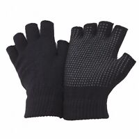 FLOSO Mens /Womens /Ladies Casual Plain Fingerless Magic Gloves with (GL391)