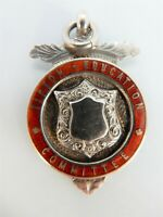 TIPTON Education Committee Solid SILVER & Enamel Prize FOB Medal. Birm 1929