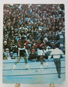 Vintage 1977 Boxing Program Madison Square Garden Vol. 13, No. 1 NO RESERVE