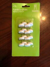 """Furniture Glides White-7/8""""-22mm-16 Pcs Nail-On-Use on Angled Chair Legs"""