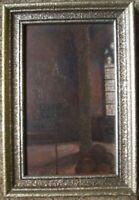 Dipinto a Olio Stile Liberty ° Luigi Höhn Waffensaal in Märkischen Museo Berlino