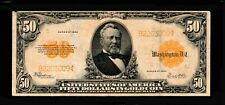 1922 $50 Large Size Notes Gold Certificates