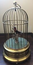 Antique Atomaton Bird Cage Music Box