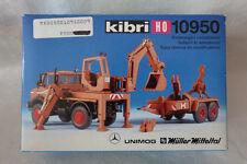 Kibri 1: 87 - H0- 10950 Unimog mit Aufbaubagger und Geräteanhänger   OVP
