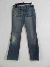Diesel Bootcut Distressed Medium Wash Jeans Size 26