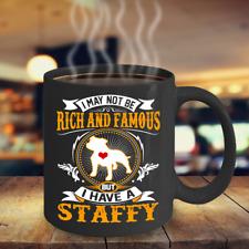 Rich Famous Staffordshire Bull Terrier Coffee Mug, Staffy Mug, Staffy Gift