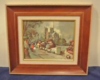 Vintage Print of Paris Signed by Artist with Beautiful Frame