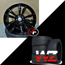 "20"" 469 Style Gloss Black Wheels With Tires Fits BMW X5 X6 X5M X6M xDrive Rims"