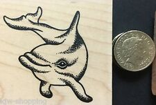 DOLPHIN Wooden Rubber Stamp Personal Impressions *SALE*