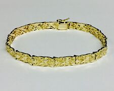 14kt Solid Yellow Gold Mens Nugget Bracelet 6.5 mm 15 grams 8