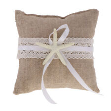 Retro Engagement Wedding Ring Pillow Lace Starfish Cushion Bearer Holder